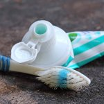 Eco-Friendly Toothbrush Tips!- worn toothbrush & empty toothpaste holder